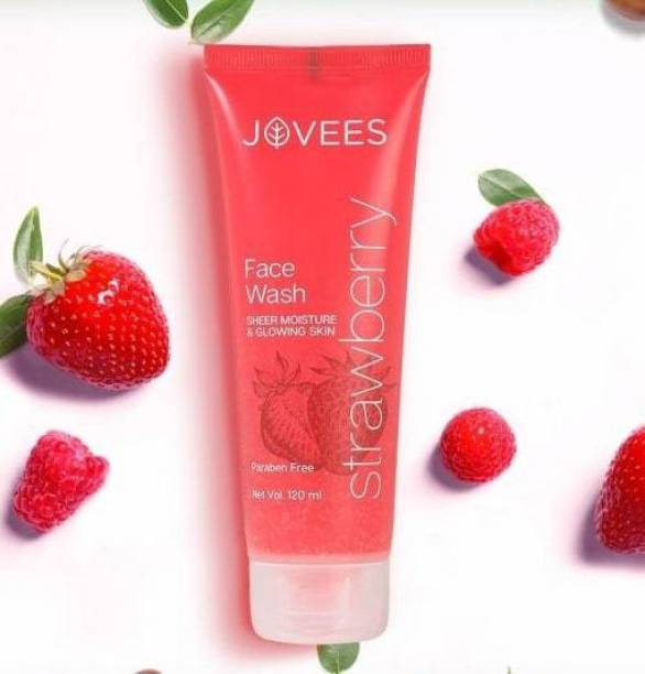 JOVEES Strawberry Sheer Moisture  120 Ml Face Wash