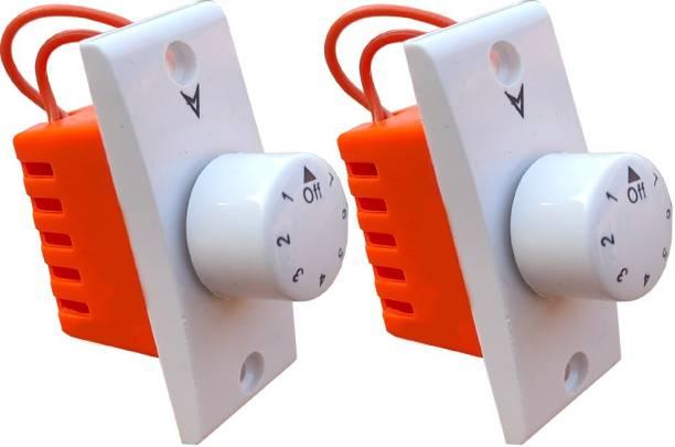 Hiru SWITCH 7 STEP - 2 PCS Simple FAN REGULATOR for Home & Office Step-Type Button Regulator