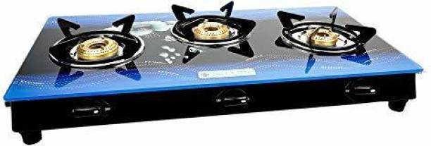 MILTON Premium Manual Ignition LPG Stove - (ISI Certified, Door Step Service) Blue Glass Manual Gas Stove
