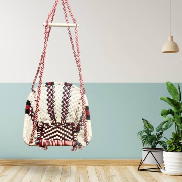 Curio Centre D Shape Modern Hanging Swing Chair Cotton Large Swing