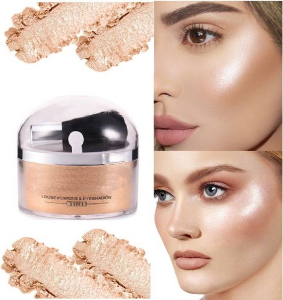 tanvi27 NEW WATERPROOF 3D LOOK GOLD HIGHLIGHTER WITH BRUSH WITH LONG LASTING FORMULATED FOR ALL TYPE SKIN Highlighter