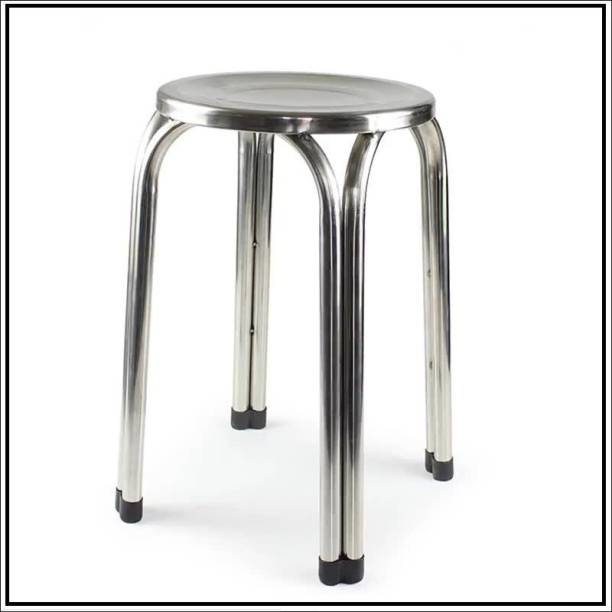KITHANIA Stainless Steel Stool for Home/Doctor Stool/Medical Stool/Salon Stool/Warehouse Stool/Garage Stool/Stool for Bathroom/Multipurpose Stool 1 PC. Hospital Food Stool