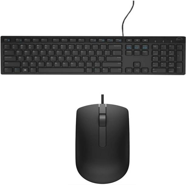 DELL Mouse And Keyboard Combo Wired USB Desktop Keyboard