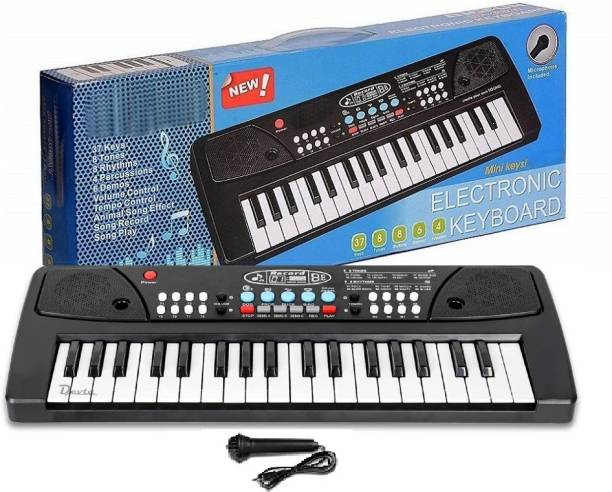 Devta Kids Piano Keyboard, Piano for Kids with Microphone Portable Electronic Keyboards for Beginners 37 Keys Musical Toys Pianos for Girls Boys Ages 3-12