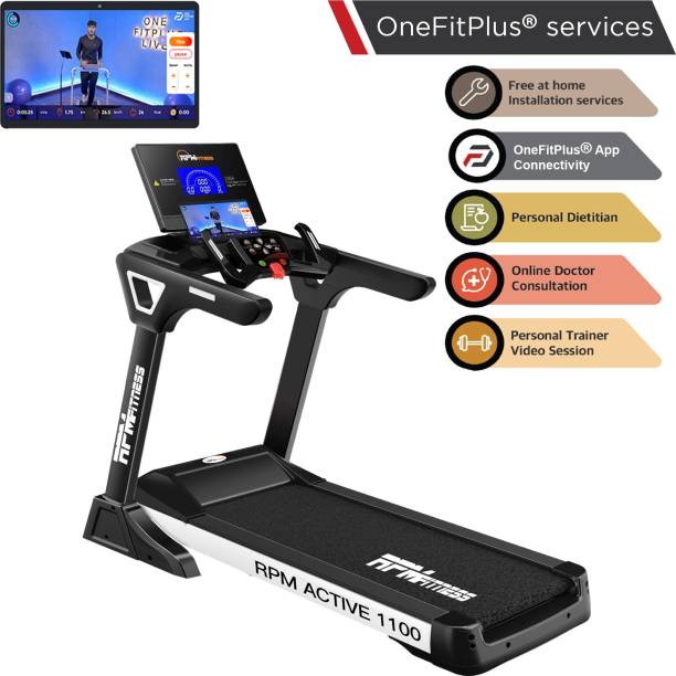 RPM Fitness Active 1100 Commercial A.C Motor (5 HP Peak Power) Treadmill