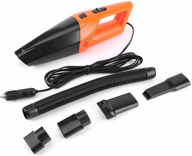 Owme 12V High Power Wet & Dry Portable Handheld Car Vacuum Cleaner with 4.5M Power Cord Car Vacuum Cleaner Car Vacuum Cleaner with Reusable Dust Bag