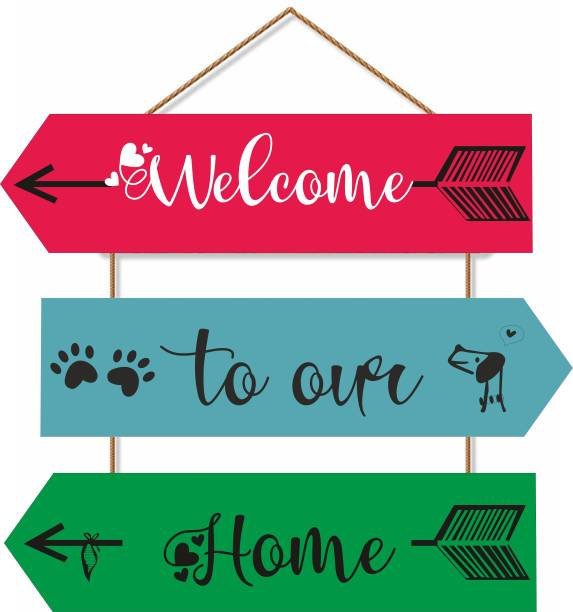 Brothers creation Welcome to Our Home Printed Cut Out wooden