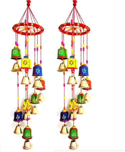 SPK Handmade Decorative Hanging -Wind Chimes Wood Windchime