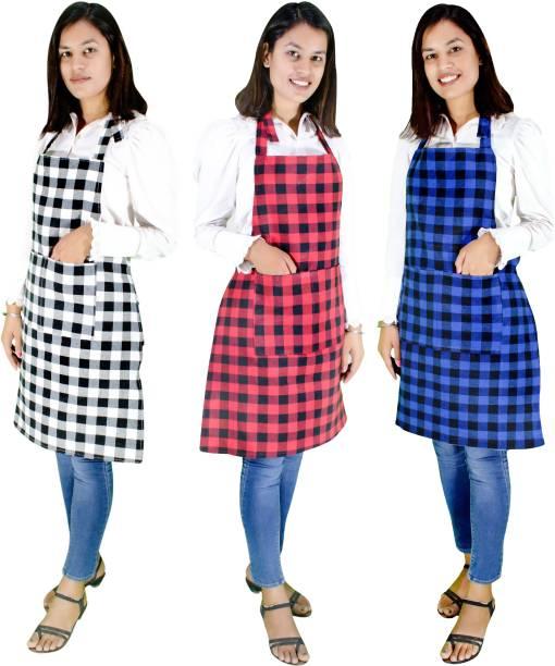 Glun Cotton Chef's Apron - Free Size
