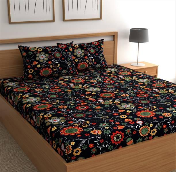 CHHAVI INDIA 144 TC Microfiber Double Printed Bedsheet