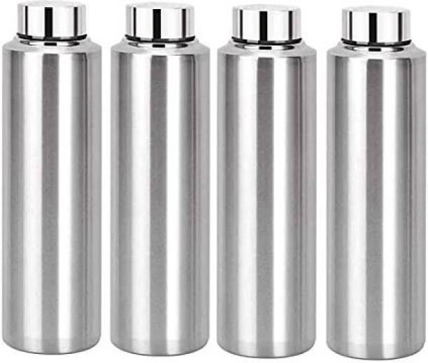 STEEPLE 1000 ml Steel Water Bottle For Office, Gym, School, Sports,Picnic (pack of 4) 1000 ml Bottle