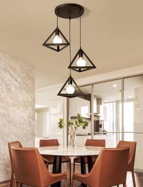 Brightlyt 3 Lights Triangle Cluster Chandelier Hanging for Bedroom, Living Room, Restaurant Pendants Ceiling Lamp