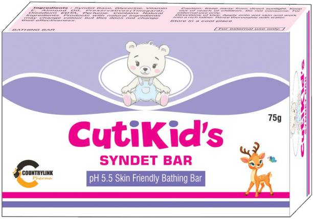 CutiKid's Moisturizing Syndate Bathing Bar pH 5.5 Enrich with Shea Butter,Vitamin E and Almond Oil