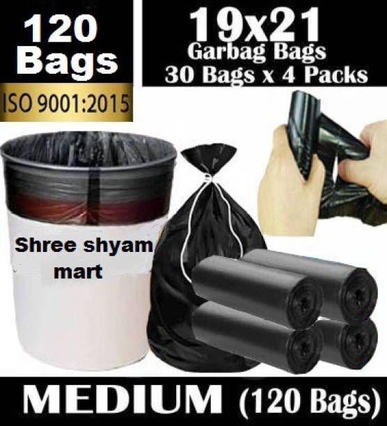 SHREE SHYAM MART Sm- black bag Medium 13 L Garbage Bag