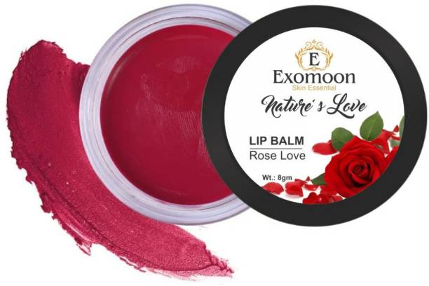 EXOMOON SKIN ESSENTIAL NATURE'S LOVE ROSE LOVE LIP BALM FOR LIP MOISTURIZING ,ALL SKIN TYPE ROSE