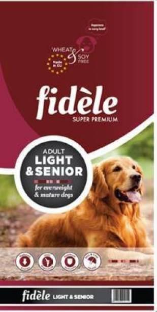 FIDELE Dry Dog Food, Adult Light & Senior Breed, 4-kg Chicken 4 kg Wet Adult, Senior, Young Dog Food