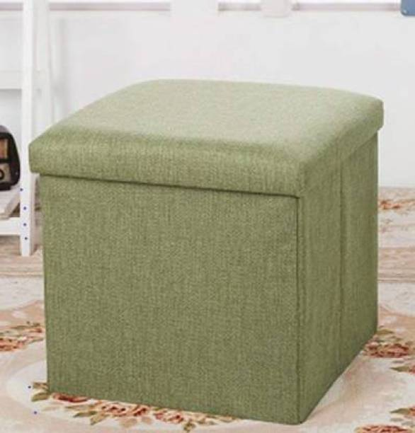 FRDE Foldable Storage Ottoman Footrest Toy Box Coffee Table Stool Cum Sitting Stool Basket Cubes Organizer Containers with Lid Living & Bedroom Stool Stool