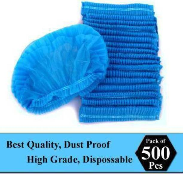 STYLERA 500 Pcs Blue Disposable Non Women Bouffant Surgical Head Cap Surgical Head Cap Surgical Head Cap