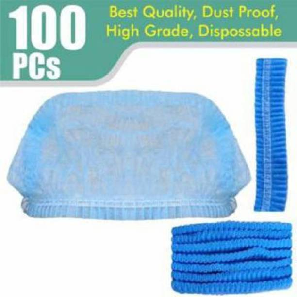 CHOCOREX. SURGICAL HEAD CAP PACK OF 100 SURGICAL HEAD CAP BLUE COLOR (Disposable) Surgical Head Cap