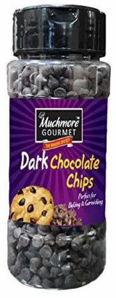 Muchmore Gourment Choco Chips Cake Decoration Choco Baking Dark Sprinkles 175gm Confetti Chips