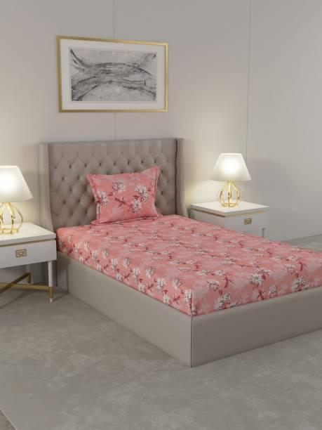 Raymond Home 104 TC Cotton Single Floral Bedsheet