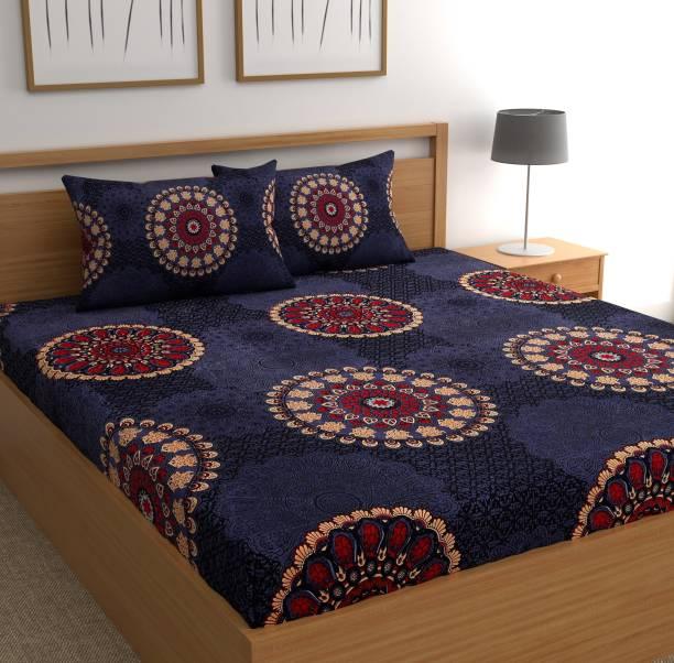 CHHAVI INDIA 160 TC Microfiber Double Printed Bedsheet