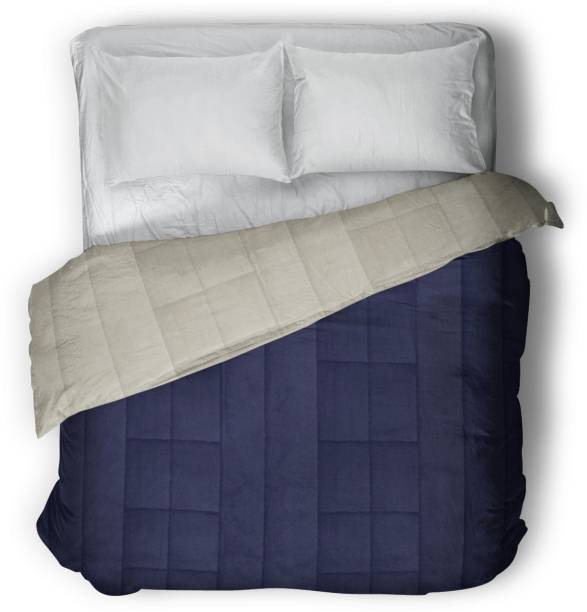 THE WOOD WHITE INDIA Solid Double Comforter