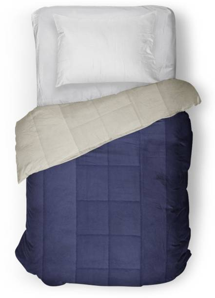 THE WOOD WHITE INDIA Solid Single Comforter