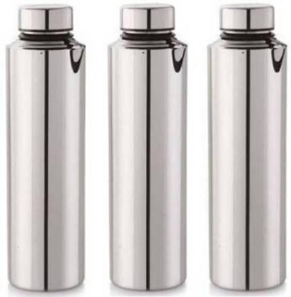 STEEPLE 1000 ml Steel Fridge Water Bottle For School, Office, Gym, Picnic (pack of 3) 1000 ml Bottle