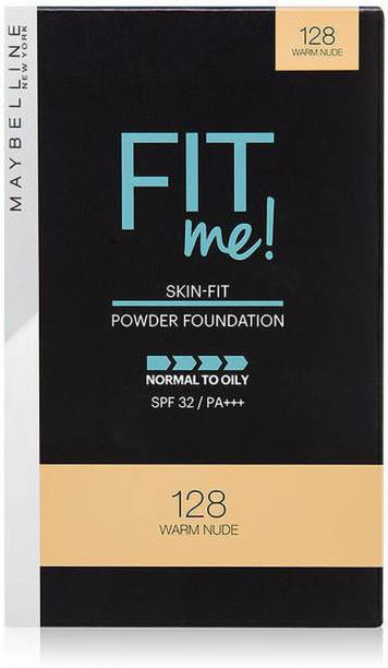 MAYBELLINE NEW YORK FIT ME 128 WARM NUDE COMPACT POWER 9 G PACK OF 1 Compact