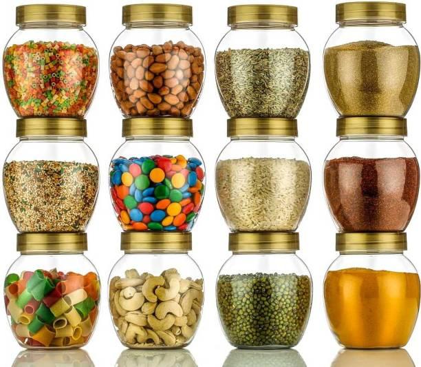Roseleaf New Design Premium Gold Handi Plastic Grocery Storage Container Air Tight Container  - 400 ml Plastic Grocery Container