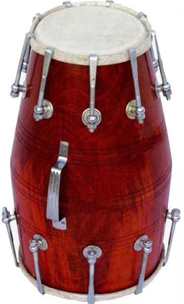 NSR Traders NSR.TRADERS Brown Nut bolts Dholak Best Quality musical instrument Nut & Bolts Dholak