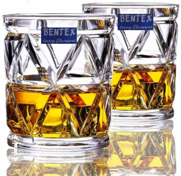 Bentex (Pack of 6) Crystal Whiskey Glass Unique Latest Design Glasses Glass Set
