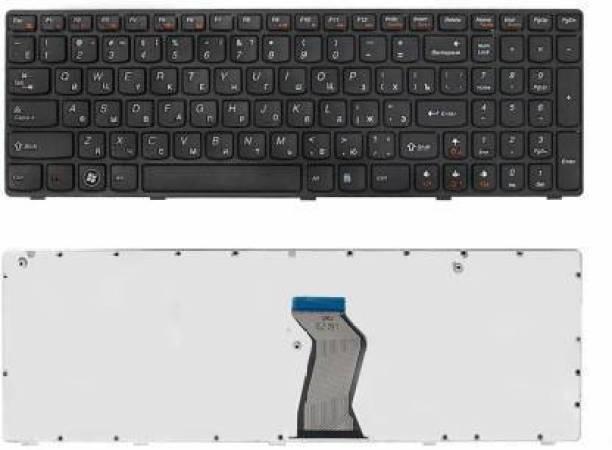 Vanfly COMPATIBLE KEYBOARD FOR LENOVO G570, Z560 BLACK FRAME LAPTOP KEYBOARD BLACK Laptop Keyboard Replacement Key
