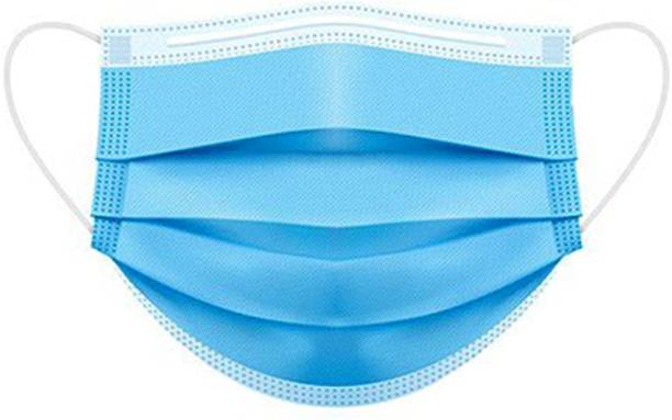TAOS 3 Layer Disposable masks 100 Pieces Spun Bond Non-Woven Fabric CE,ISO and WHO-GMP Certified (BFE)?98.5%, Particle Filtration Efficiency(PEE)?94% with Adjustable Pin Inside Surgical Mask With Melt Blown Fabric Layer (Blue, Free Size, Pack of 100, 3 Ply) SURGICAL-100 mask q14 Surgical Mask With Melt Blown Fabric Layer