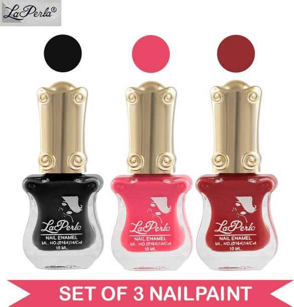 La Perla CH Piano Nail Paint Black Matte Nude Pink Matte Voilet Red Matte Multicolor