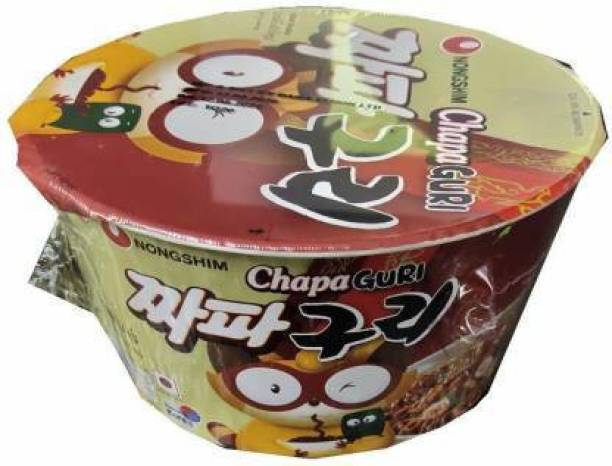Nongshim Big Bowl Chapa Guri (Spicy)-114gm-Instant Noodles (Pack of 1 ) (Imported) Cup Noodles Non-vegetarian