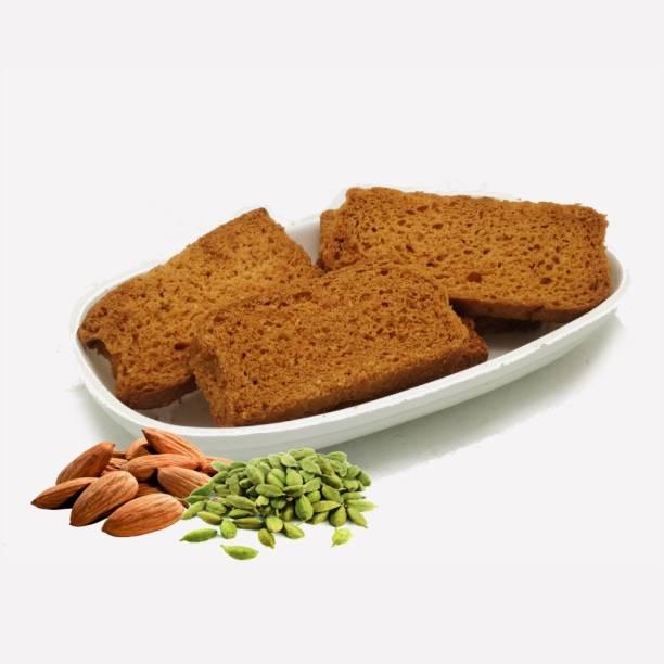 Biskutwala Old Delhi's Special Traditional Big Almond Elaichi Rusks (Golden Toast) Big Almond Elaichi Rusks flavored Elaichi Rusk