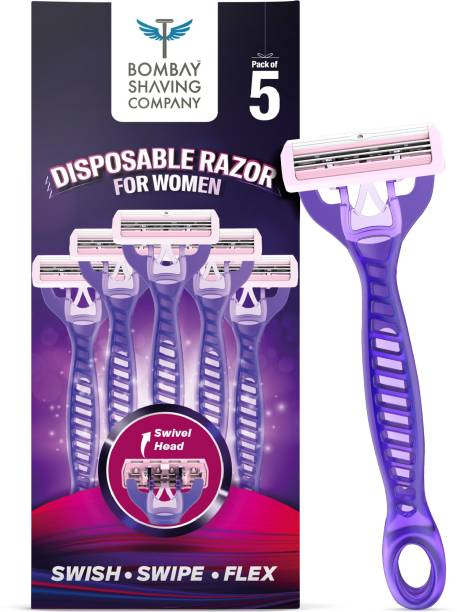 BOMBAY SHAVING COMPANY Hair Removal Razor with Aloe Strip for Women (Pack of 5)