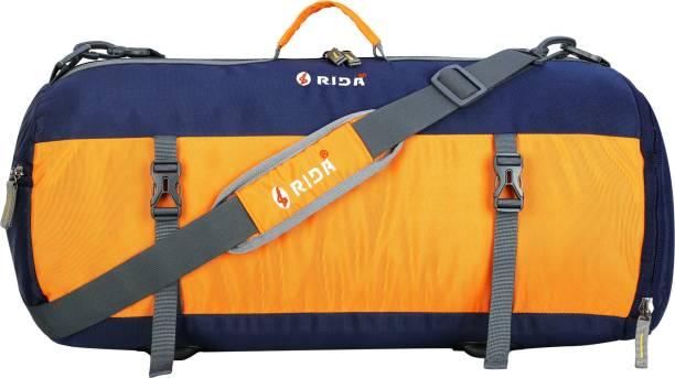 RIDA Sport Duffel Bag for Men Women Gym Yoga Bag Handbag Travel Shoulder Bag -Navy Blue