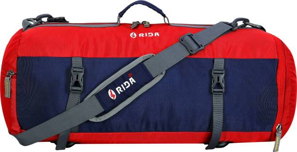 RIDA Sport Duffel Bag for Men Women Gym Yoga Bag Handbag Travel Shoulder Bag - Red