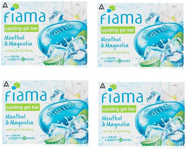FIAMA cooling gel bar menthol & magnolia cooing & refreshing (set of 4) with skin conditioning