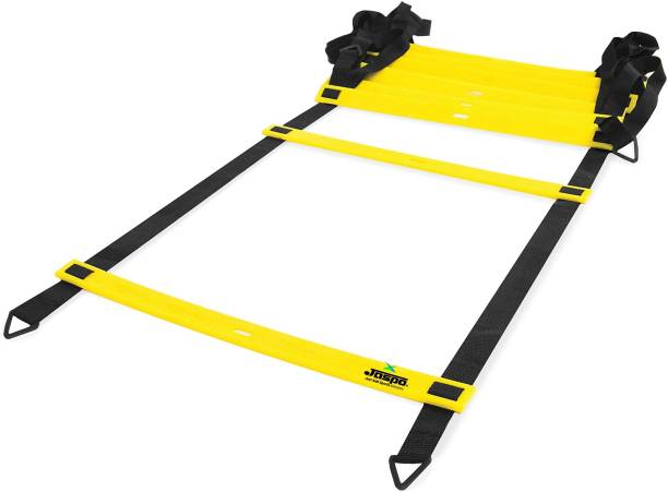 Jaspo Adjustable Speed Agility Ladder for Field Sports (Football, Soccer, Hockey, Basketball & Other Sports) Training & Fitness Gym Track (5.4 Meter/11 rungs) Speed Ladder