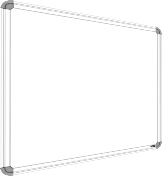 YAJNAS Non Magnetic 1.5x2 feet Glossy White Board, One Side White Board Marker and Reverse Side Green Chalk Board Surface Whiteboards Whiteboards