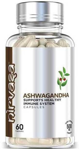 Nirvasa Ashwagandha Capsules Extract 500 mg for Strength, Stamina Energy, Better Immunity, & Endurance 100% Pure Ayurvedic
