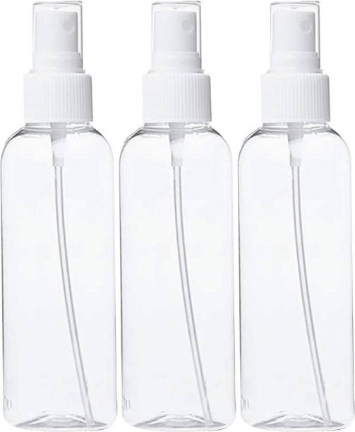 WHITE STONE Plastic Spray Bottle Refillable Fine Mist100 ML (Pack of 3) 100 ml Spray Bottle