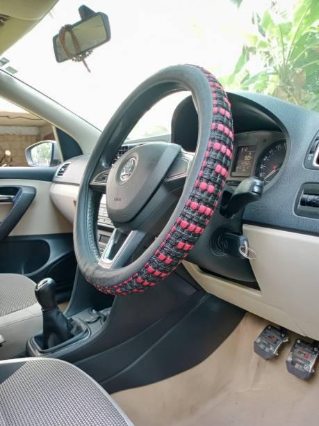 KAALAVANDI Steering Cover For Universal For Car Universal For Car, Micra Active, Indigo CS, Evalia, Enjoy, Matiz, Jazz, Sunny, Manza, Alto K10, City, Figo, Ertiga, Go, Go+, Duster, Aspire, Eon, Indica, Elite i20, WagonR Stingray, Etios, Grand i10