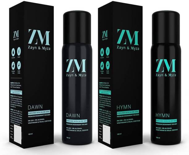 ZM Zayn & Myza Dawn And Hymn No Alcohol Body Spray  -  For Men