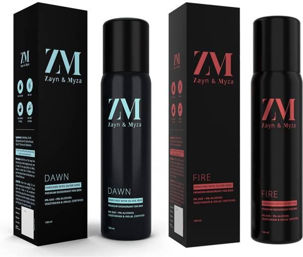 ZM Zayn & Myza Dawn And Fire No Alcohol Body Spray  -  For Men