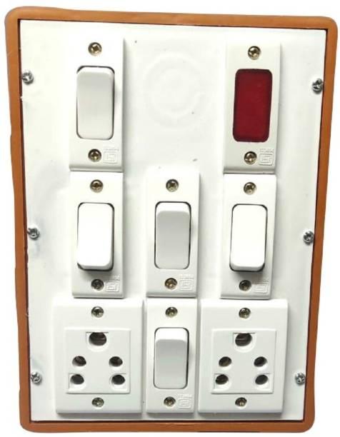 Everun electrical 8way 5+3 6 A Three Way Electrical Switch